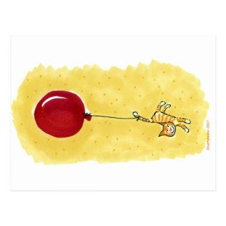 Cat Tail/Balloon Postcard
