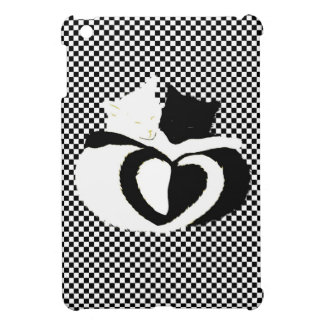 CAT tails - love black white Case For The iPad Mini