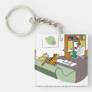 Cat Talk Key Ring
