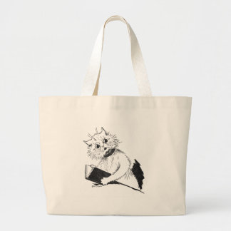 Cat Teacher with Educational Book Jumbo Tote Bag