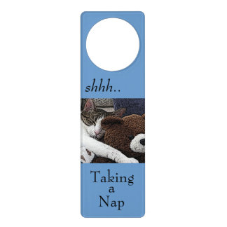 Cat Teddy Napping Door Knob Hangers
