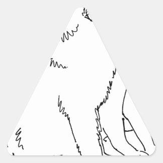 Cat Templates.jpg Triangle Sticker