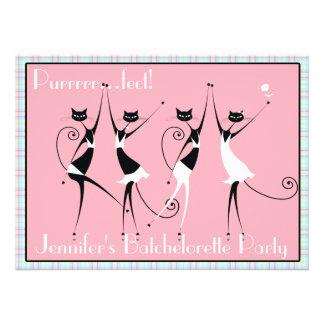 cat themed batchelorette party invitations no 2