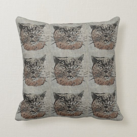 Cat Throw Pillow Cushion