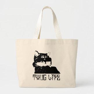 cat-thug-life-cholo jumbo tote bag