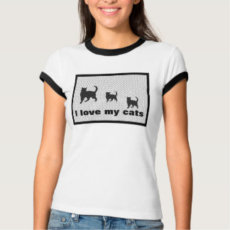 cat tiles, I love my cats T Shirts