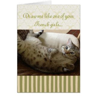 Cat Titanic Quote Greeting Card