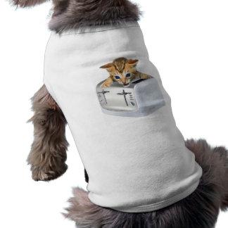 Cat Toaster Sleeveless Dog Shirt