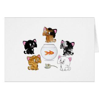 Cat Treats Greeting Card