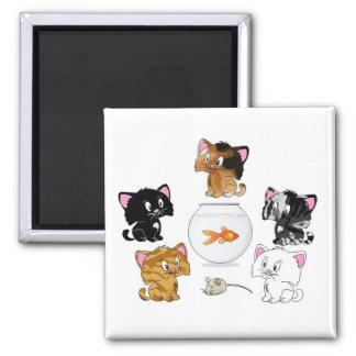 Cat Treats Square Magnet