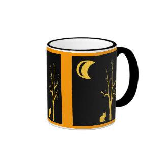 Cat, Tree and Moon Mug
