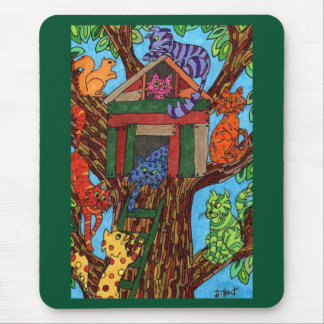 Cat Tree House Mouse Pad