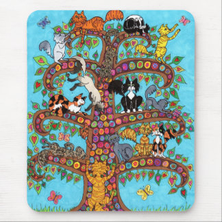 Cat Tree of Life 2 Mouse Mat