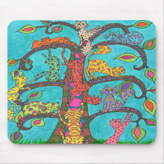 Cat Tree of Life Mouse Pad