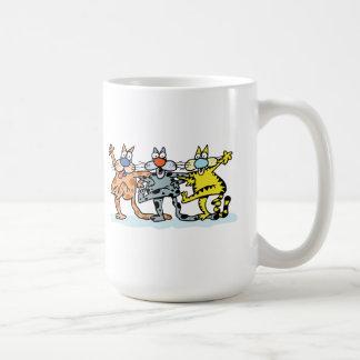 Cat Trio Basic White Mug