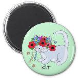Cat Ukrainian Folk Art 6 Cm Round Magnet