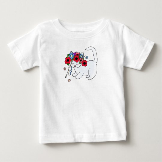 Cat Ukrainian Folk Art Baby T-Shirt