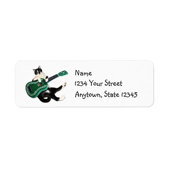 Cat Ukulele Address Labels