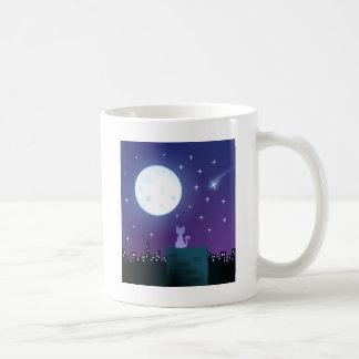 Cat Under the Moonlight Mugs