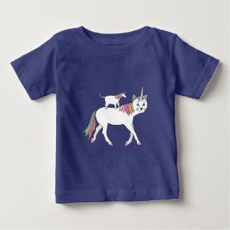 Cat Unicorn Riding Unicorn Cat Baby T-Shirt