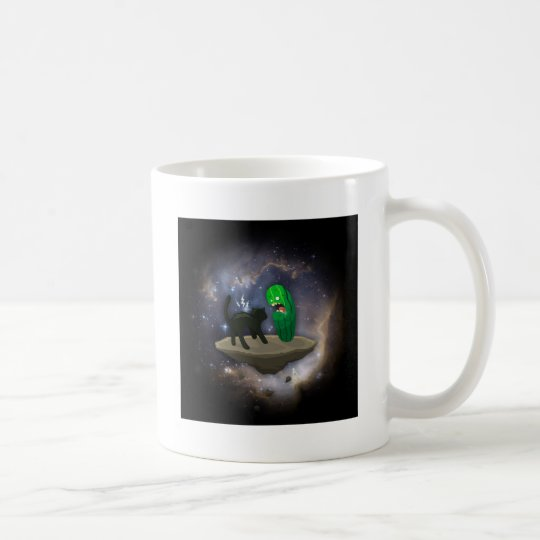 Cat versus Cucumber Coffee Mug