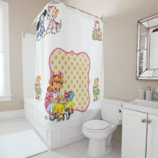 Cat vintage showercurtain shower curtain