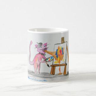Cat Vomit Artist Basic White Mug