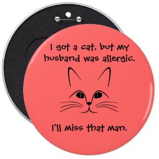 """Cat vs. Husband"" Button"
