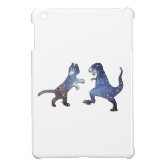 CAT VS T-REX - SPACE TEXTURE COVER FOR THE iPad MINI