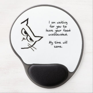 Cat Waits To Steal Your Food - Funny Cat Mousepad Gel Mouse Mat