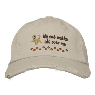 Cat Walk Embroidered Hat
