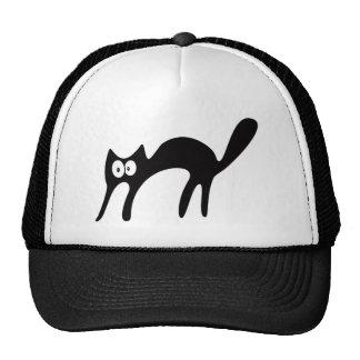 Cat Walking About Black Hello Eyes Trucker Hat