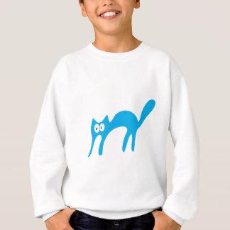 Cat Walking About Blue Hello Eyes Sweatshirt