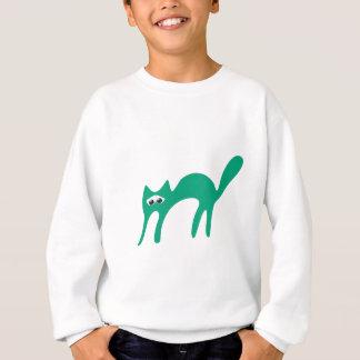 Cat Walking About Green Sad Eyes Sweatshirt