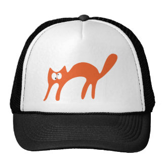 Cat Walking About Orange Topsy Turvey Eyes Cap