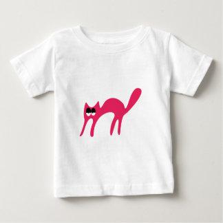 Cat Walking About Pink Hi Eyes Baby T-Shirt