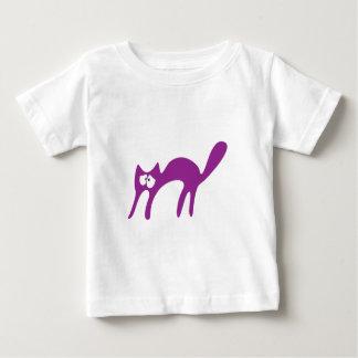 Cat Walking About Purple Vulnarable Eyes Baby T-Shirt