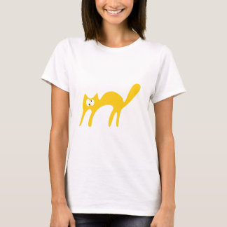 Cat Walking About Yellow Topsy Turvey Eyes T-Shirt