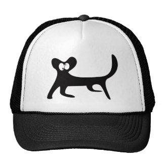 Cat Walking Sideways Black Topsy Turvey Eyes Mesh Hats