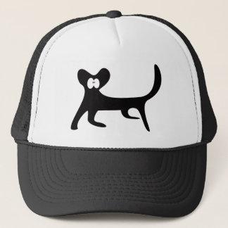Cat Walking Sideways Black Wtf Eyes Trucker Hat