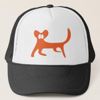 Cat Walking Sideways Orange Wtf Eyes Trucker Hat