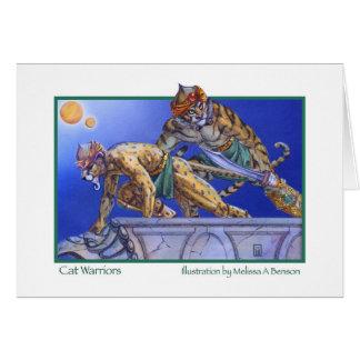 Cat Warriors Greeting Card