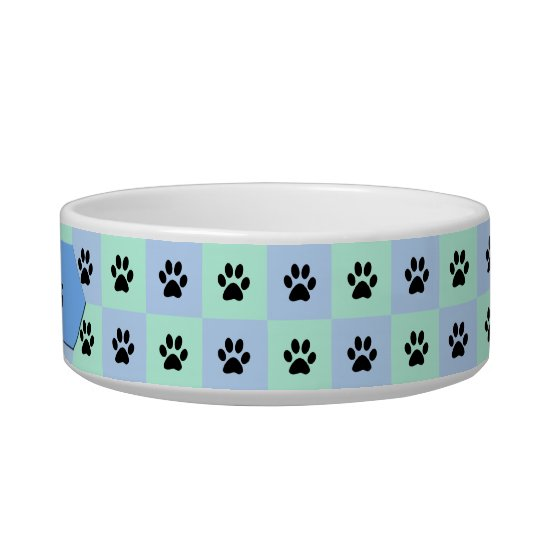Cat Water Bowl -- Personalised with Cat Paws