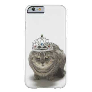 Cat wearing a tiara barely there iPhone 6 case