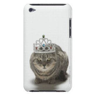 Cat wearing a tiara barely there iPod cover