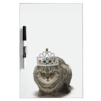 Cat wearing a tiara Dry-Erase board