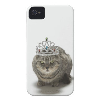 Cat wearing a tiara iPhone 4 Case-Mate case
