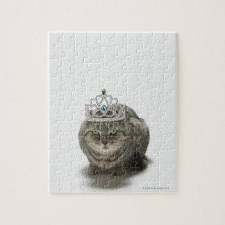 Cat wearing a tiara jigsaw puzzle