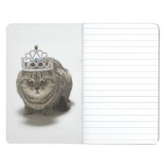 Cat wearing a tiara journals