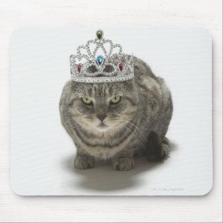 Cat wearing a tiara mousepad